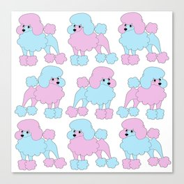 Poodles Canvas Print