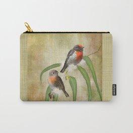 Australian Scarlet Robin Carry-All Pouch