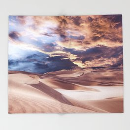 Golden Sand And Clouds Throw Blanket