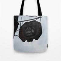 ale giorgini Tote Bags featuring Ale 'n 'Wich by Caitlin