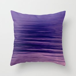 Movement of Water on a Calm Evening- Violet Abstraction Throw Pillow