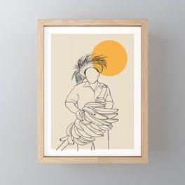 Man with Platanos Framed Mini Art Print