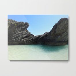 The Cove On the Right at Horseshoe Bay, Bermuda Metal Print