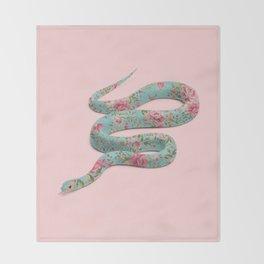 FLORAL SNAKE Throw Blanket