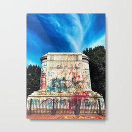 Stonewall Jackson Monument after BLM Protests and Statue was Removed Richmond Virginia Metal Print