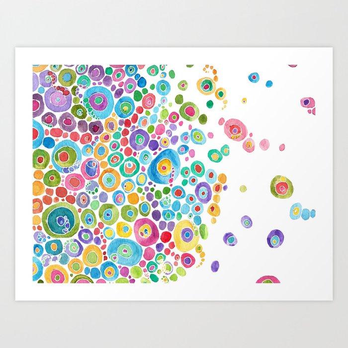 Inner Circle - white Art Print