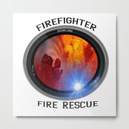 Firefighter rescue Metal Print