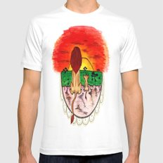 LionKing Mens Fitted Tee White MEDIUM