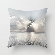 When the sun sets... Throw Pillow
