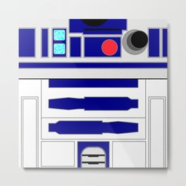 R2-D2 - Minimal Metal Print