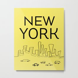 New York scrbbs Metal Print
