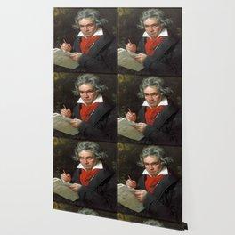 Joseph Karl Stieler - Portrait of Beethoven Wallpaper