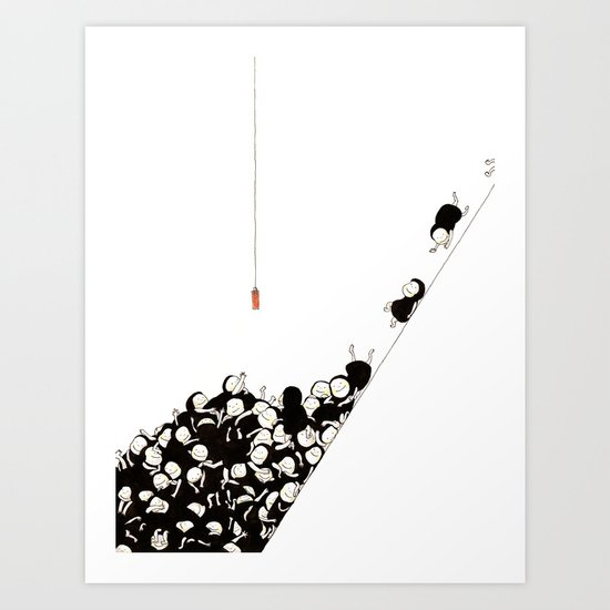 Red tag Art Print