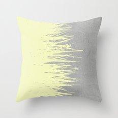 Concrete Fringe Yellow Throw Pillow