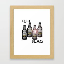 Queensland Flag xxxx Framed Art Print