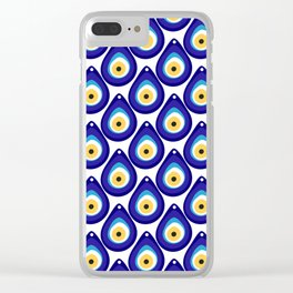 Evil eye protection pattern Clear iPhone Case