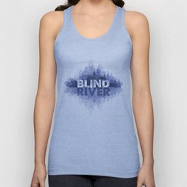 Blind River Trees (blue) Unisex Tank Top