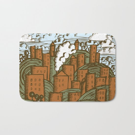 A CITY ON A HILL Bath Mat
