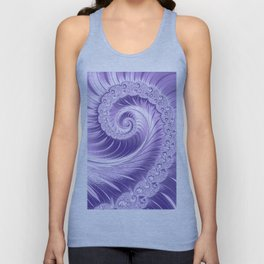 Ultra Violet Luxe Spiral Pattern | Trendy Color of the Year 2018 Unisex Tank Top