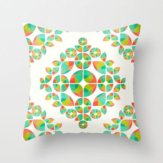 Fantasy Garden Pattern Throw Pillow