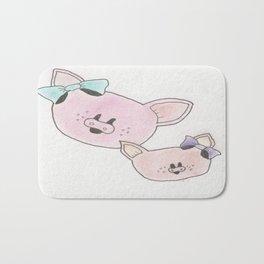 Piggies in Color Bath Mat