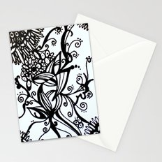 Forget Me Not Black & White  Stationery Cards
