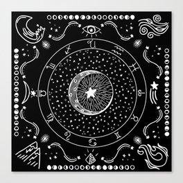 Zodiac Bandana Canvas Print