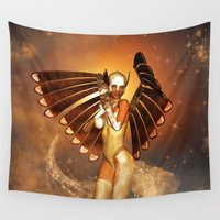 angel wings Wall Tapestries featuring Angel by nicky2342