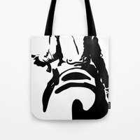 cowboy Tote Bags featuring Cowboy by Natalia Elina