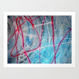 Shock Blue #2 Art Print