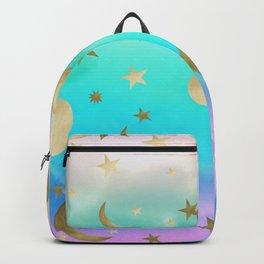 Pastel Rainbow Starry Sky Moon Dream #1 #decor #art #society6 Backpack