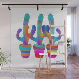 Cactus Rainbow 02 Wall Mural