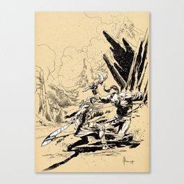 Fantasy art fight Canvas Print