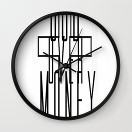 GOD OVER MONEY Wall Clock