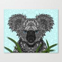 koala Canvas Prints featuring Koala by ArtLovePassion