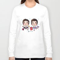 wes anderson Long Sleeve T-shirts featuring 5 years of Blaine Anderson by Sunshunes