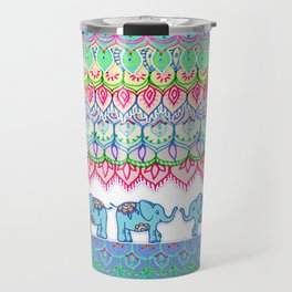 Tiny Circus Elephants Travel Mug