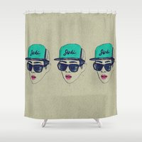 shinee Shower Curtains featuring Mr. Lee Jinki by GIZIBE