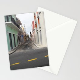 Street View of Old San Juan Puerto Rico Stationery Cards
