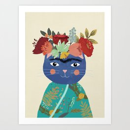 Frida Cat Kunstdrucke