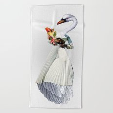 Only the Queen Can Eat Swans Beach Towel