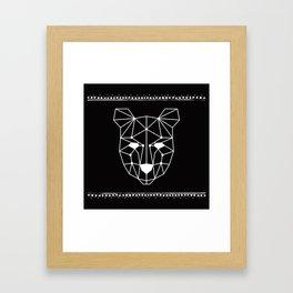 Totem Festival 2015 - White & Black Framed Art Print