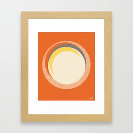 Spheres (Orange) by Matthew Korbel-Bowers for Covell & Company Framed Art Print