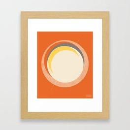 Spheres (Orange) by Matthew Korbel-Bowers for Covell & Company Framed Art Print