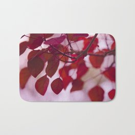 Red Leaves Bath Mat