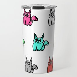 The Multicolor Pussy Cat Parade Travel Mug