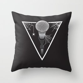 Creepy Music Throw Pillow