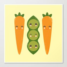 Peas and Carrots Canvas Print