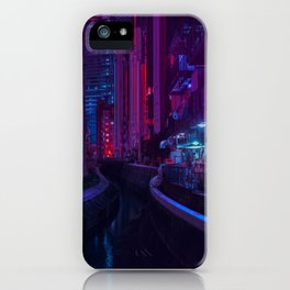 Tokyo Nights / Glitch City / Liam Wong iPhone Case
