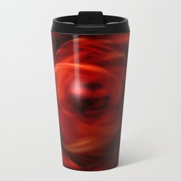 Red Fire Sphere Travel Mug